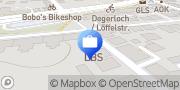Karte LBS in Stuttgart-Degerloch Stuttgart, Deutschland