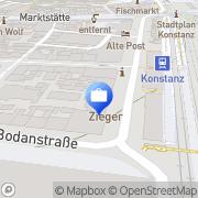 Karte Axel Hierling Steuerberater Konstanz, Deutschland