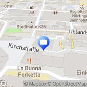 Karte Volksbank Kirchheim-Nürtingen eG, Hauptstelle Nürtingen Nürtingen, Deutschland