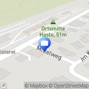 Karte VR-Bank Haste, Deutschland