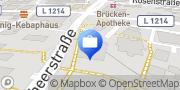 Karte AOK Baden-Württemberg - KundenCenter Eislingen/Fils Eislingen/ Fils, Deutschland