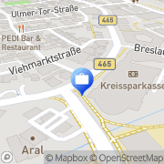 Karte Allianz Service-Center Biberach, Deutschland