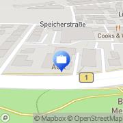 Karte AOK - Die Gesundheitskasse für Niedersachsen Hildesheim, Deutschland