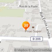 Carte de Proxi Super Chacé, France