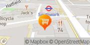 Map Tesco Express Southwark, United Kingdom