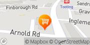 Map Tesco Express Tooting, United Kingdom