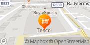Map Tesco Superstore Ballyfermot, Ireland