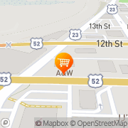 Map A&W Restaurant Portsmouth, United States