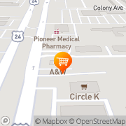 Map A&W Restaurant Taylor, United States