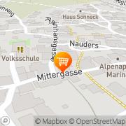 Karte Shop & Cafe Wiestner Nauders, Österreich