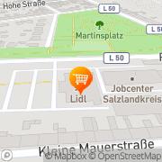Karte Lidl Bernburg, Deutschland