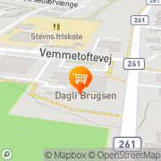 Kort Dagli'Brugsen Rødvig Rødvig, Danmark
