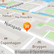 Kort SuperBrugsen Islands Brygge København, Danmark