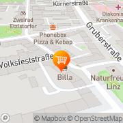 Karte Billa AG Abt Corso Linz, Österreich