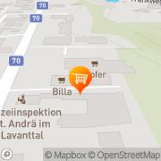 Karte Billa Sankt Andrä, Österreich