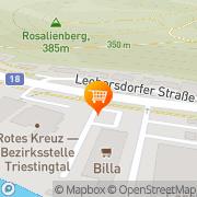Karte Billa Berndorf, Österreich