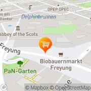 Karte Biobauernmarkt  Freyung Wien, Österreich