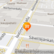 Kartta K-supermarket Isolinna Pori, Suomi