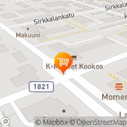 Kartta K-market Kookos Turku, Suomi