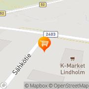 Kartta K-Market Lindholm Pertteli, Suomi