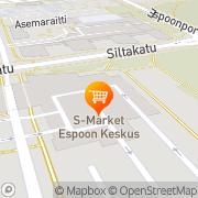 Kartta S-market Espoon keskus Espoo, Suomi