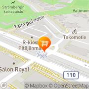 Kartta S-market Pitäjänmäki Helsinki, Suomi
