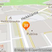 Kartta S-market Itälahdenkatu Helsinki, Suomi