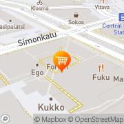 Kartta Alepa Forum Helsinki, Suomi