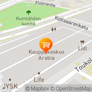 Kartta S-market Arabia Helsinki, Suomi