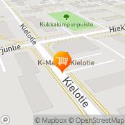 Kartta K-market Kielotie Vantaa, Suomi