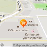 Kartta K-supermarket Kempele Kempele, Suomi