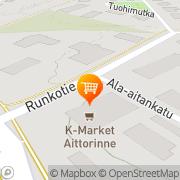 Kartta R-kioski Aittorinne Jyväskylä, Suomi
