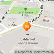 Kartta S-market Kangasniemi Kangasniemi, Suomi