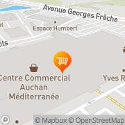 Carte de Auchan MONTPELLIER Pérols, France