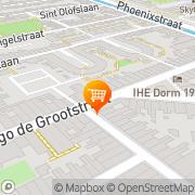Kaart Spare Rib Line Bezorgdienst Delft, Nederland