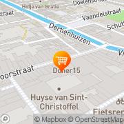 Kaart Duif Snackbar Delft, Nederland