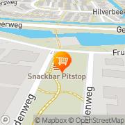 Kaart Pitstop Cafetaria de Geer Zwijndrecht, Nederland