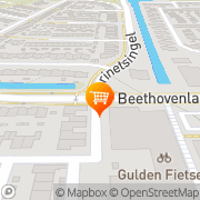 Kaart Oudeland Cafetaria Zwijndrecht, Nederland