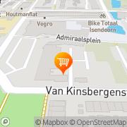 Kaart Albert Heijn Dordrecht, Nederland
