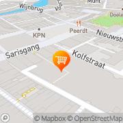Kaart Delifrance BV Dordrecht, Nederland
