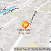 Kaart Hoogland Keurslagerij Akersloot, Nederland