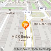 Kaart De Natuurwinkel Amsterdam, Nederland