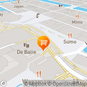 Kaart Stichting De Balie Amsterdam, Nederland