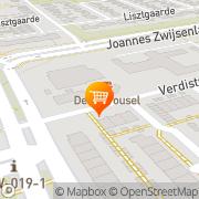 Kaart Carrousel Cafetaria De Oss, Nederland