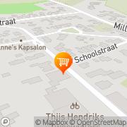 Kaart Jan Linders Supermarkten Wanroij, Nederland