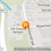 Kaart Cafetaria-EetcafÈ Hoekje 't Herwen, Nederland