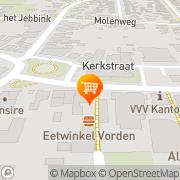 Kaart Kerkepad IJsbuffet Vorden, Nederland