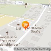Karte Lidl Detmold, Deutschland