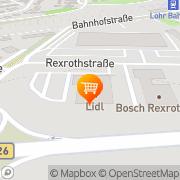 Karte Lidl Lohr a.Main, Deutschland