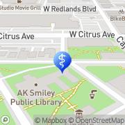 Map Dr Vines Office Redlands, United States